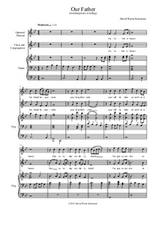 Our Father: In Dorian mode with organ and optional descant by David W Solomons