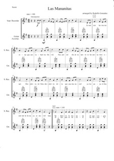 Las Mananitas By Folklore Sheet Music On Musicaneo