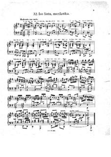 Suomalaisia kansanlauluja (Finnish Folk Songs): No.32-40 by Oskar Merikanto