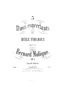 Three Concert Duos, Op.2: Three Concert Duos by Bernhard Molique