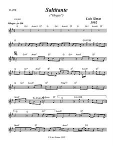 Saltitante (Hoppy): For flute by Luiz Simas