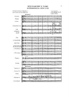 Invitation to the Dance, J.260 Op.65: For orchestra by Carl Maria von Weber