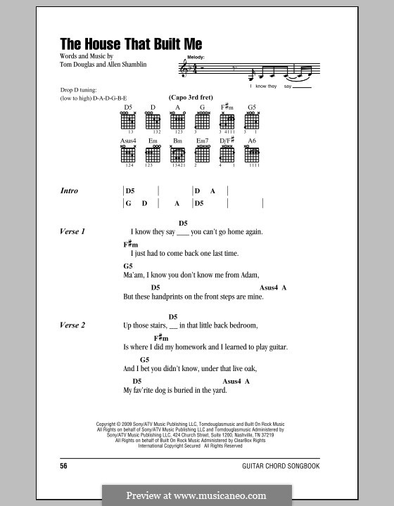 Guitar Chords For The House That Built Me Images - guitar chords ...