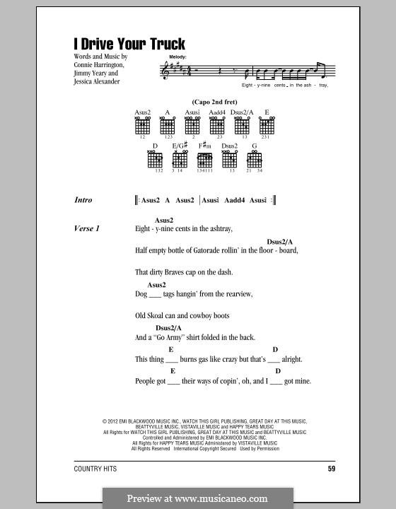 I Drive Your Truck (Lee Brice) by C. Harrington, J. Alexander, J ...