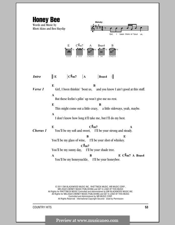 Honey Bee Blake Shelton By B Hayslip R Akins On Musicaneo