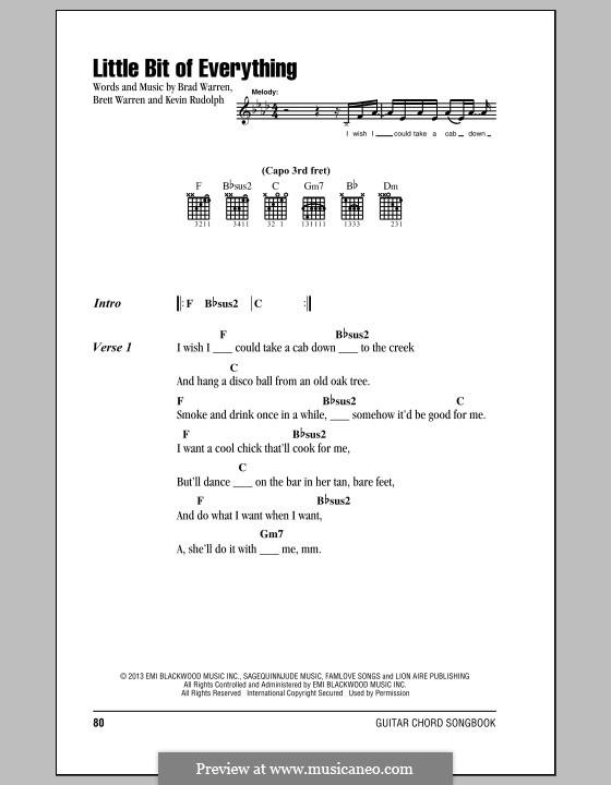 Little Bit of Everything (Keith Urban): Lyrics and chords by Brad Warren, Brett Warren, Kevin Rudolf