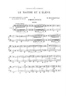 Le maître et l'élève (Huit petits morceaux), Op.96: For piano four hands – parts by Moritz Moszkowski