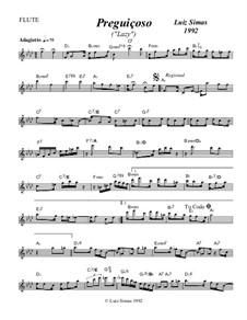 Preguiçoso (Lazy): For flute by Luiz Simas
