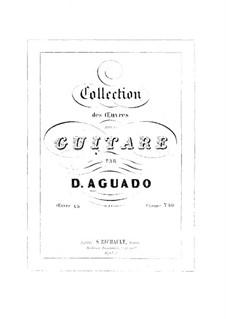 Air espagnol. Varié pour guitare: Air espagnol. Varié pour guitare by Dionisio Aguado