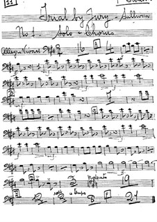 Trial by Jury: Trombones parts by Arthur Seymour Sullivan