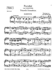 Titurel's Funeral: For harmonium and piano – harmonium part by Richard Wagner