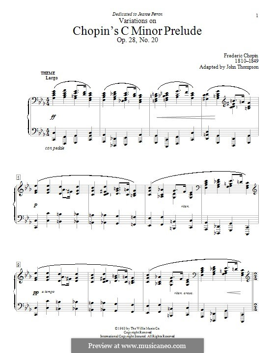 No.20 in C Minor: Variations by Frédéric Chopin