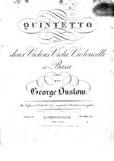 String Quintet No.4 in G Minor, Op.17: Parts by Georges Onslow