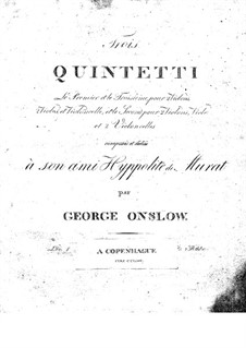 Three String Quintets No.1-3, Op.1: Complete set by Georges Onslow
