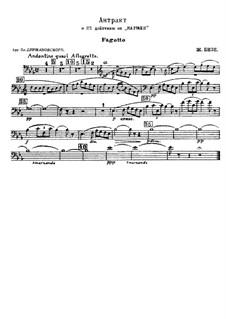 First Suite: No.3 Intermezzo – parts by Georges Bizet