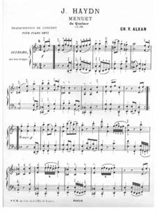 String Quartet No.61 in D Minor 'Quinten', Hob.III/76 Op.76 No.2: Movement III. Version for piano by Joseph Haydn