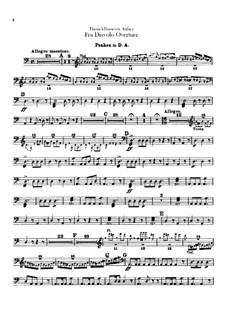 Overture: Percussion part by Daniel Auber