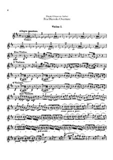 Overture: Violin I part by Daniel Auber