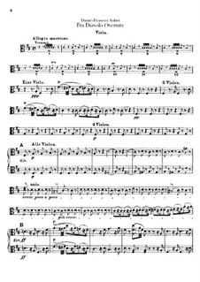 Overture: Viola part by Daniel Auber