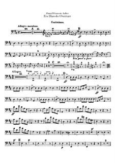 Overture: Double bass part by Daniel Auber
