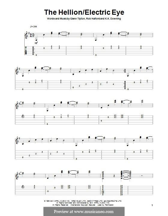Electric Eye (Judas Priest): For guitar with tab by Glenn Tipton, K. K. Downing, Robert Halford
