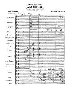 À la musique: Full score by Emmanuel Chabrier