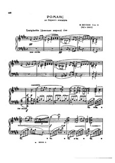 Fragments: Movement II. Version for piano by Frédéric Chopin