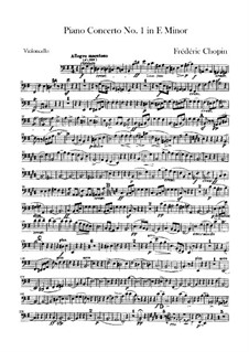 Complete Concerto: Cello part by Frédéric Chopin