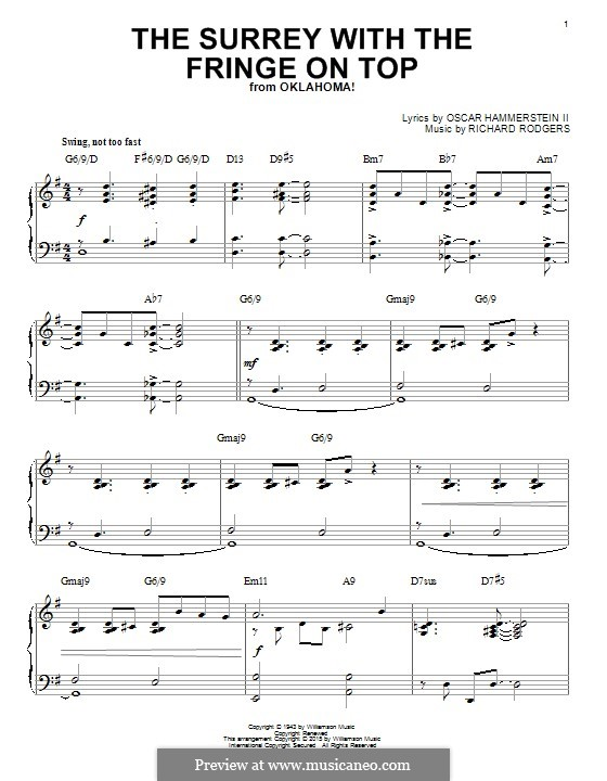 The Surrey with the Fringe on Top: For piano by Richard Rodgers