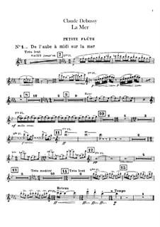 La mer (The Sea), L.109: Flutes parts by Claude Debussy