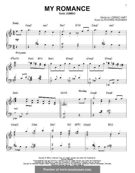 My Romance: For piano by Richard Rodgers