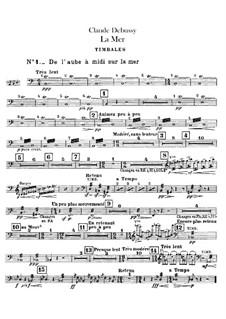 La mer (The Sea), L.109: Percussion part by Claude Debussy