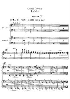 La mer (The Sea), L.109: Harp part by Claude Debussy