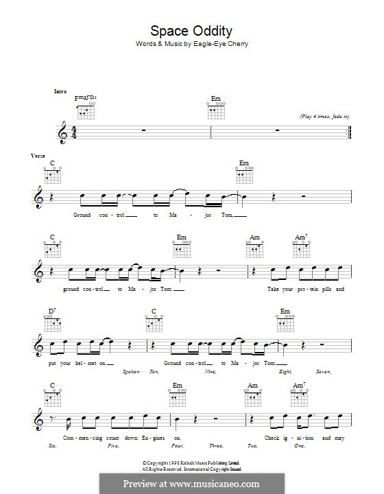 Space Oddity: Lyrics and chords by David Bowie
