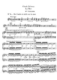 La mer (The Sea), L.109: Violins II part by Claude Debussy