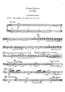 La mer (The Sea), L.109: Double bass parts by Claude Debussy