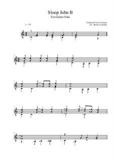 Sloop John B (The Beach Boys): For guitar by folklore