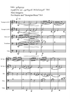 For theatre and 'Georgian Brass' No.4, Op.66: For theatre and 'Georgian Brass' No.4 by Nino Janjgava