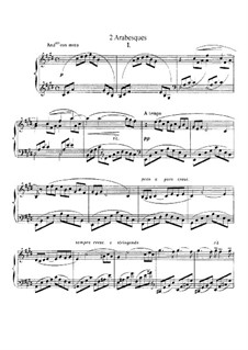 Two Arabesque, L.66: Complete set by Claude Debussy