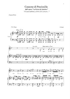 La forza del destino: Canzone di Preziosilla (B-dur) by Giuseppe Verdi