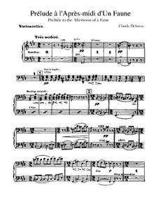 Prélude à l'après-midi d'un faune (Prelude to the Afternoon of a Faun), L.86: Cellos part by Claude Debussy