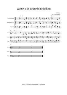Wenn alle Brünnlein fließen: Trio Trompete, Trompete, Posaune, Op.030122 by folklore