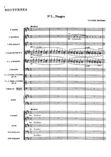 Three Nocturnes, L.91: No.1 Nuages by Claude Debussy