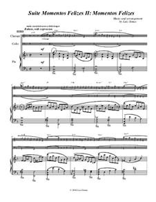 Momentos Felizes Suite: Part II -'Momentos Felizes' - full score for piano, cello, clarinet by Luiz Simas