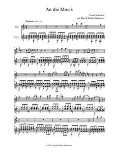 An die Musik (To Music), D.547 Op.88 No.4: For flute and guitar by Franz Schubert