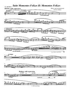 Momentos Felizes Suite: Part II - 'Momentos Felizes' - clarinet part by Luiz Simas