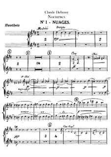 Three Nocturnes, L.91: Oboes and cor anglais parts by Claude Debussy