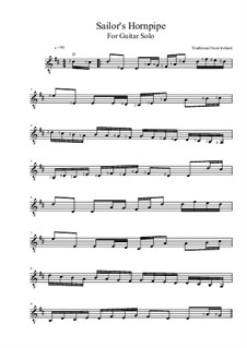 Sailor's Hornpipe: For guitar by folklore