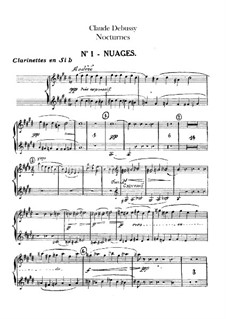 Three Nocturnes, L.91: Clarinets in B parts by Claude Debussy