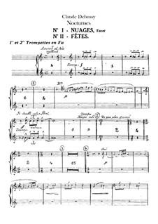 Three Nocturnes, L.91: Trumpets parts by Claude Debussy